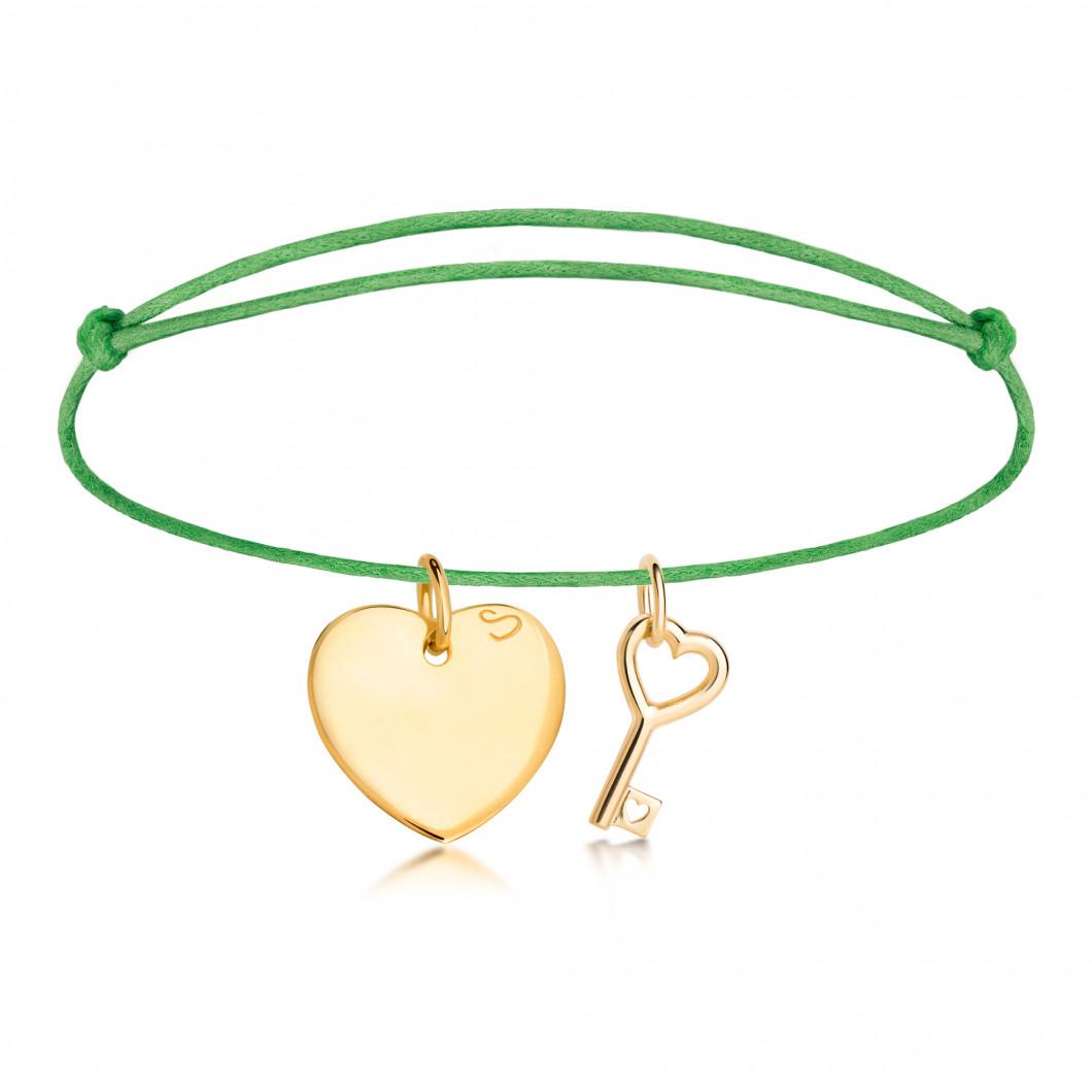 Браслет с подвесками «Большое сердце» и «Ключик»