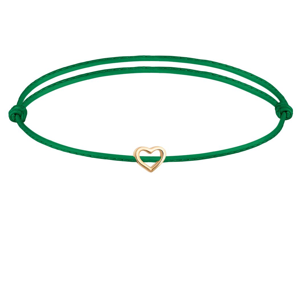 Браслет с шармиком «Сердце контурное»