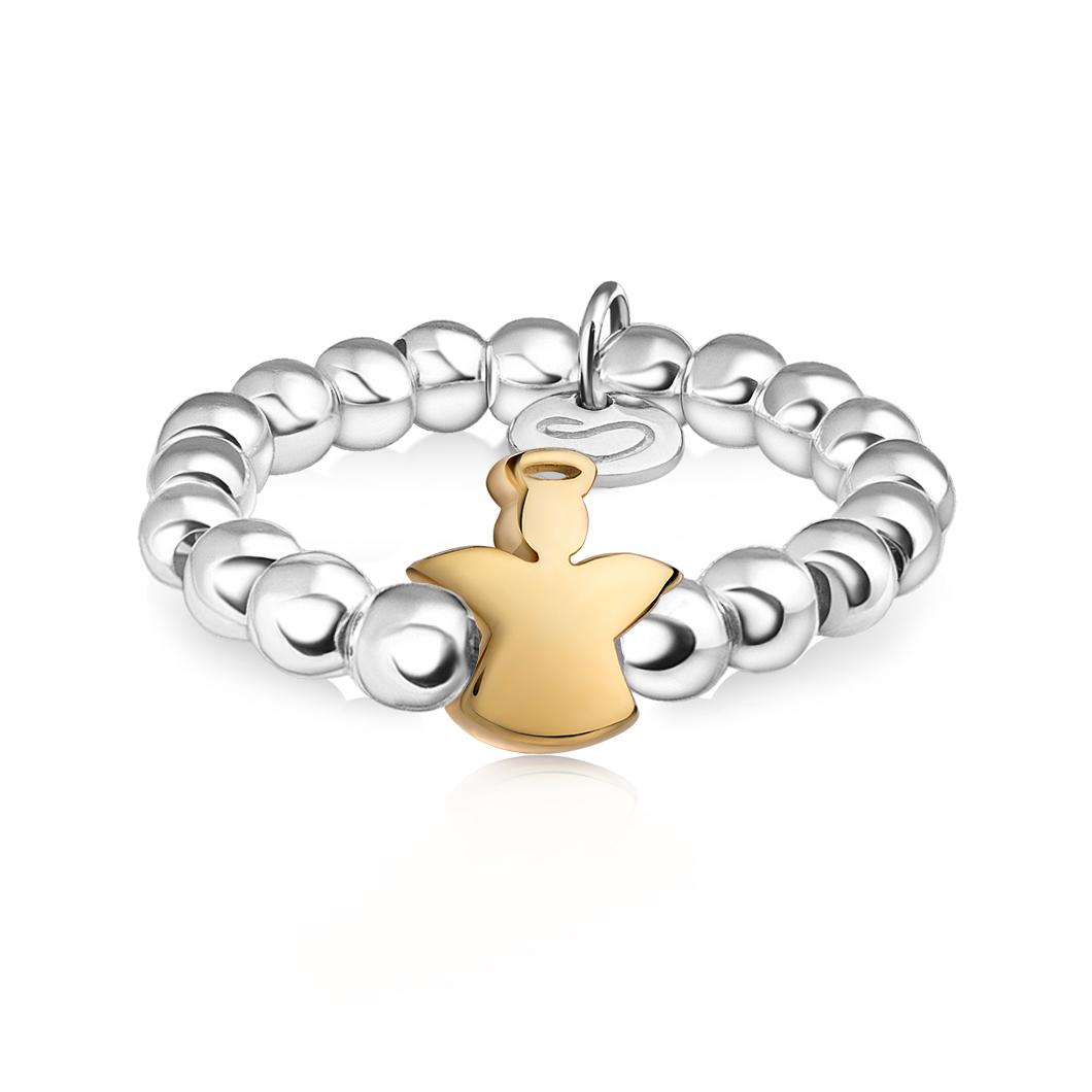 Кольцо из бусин «Ангелочек»