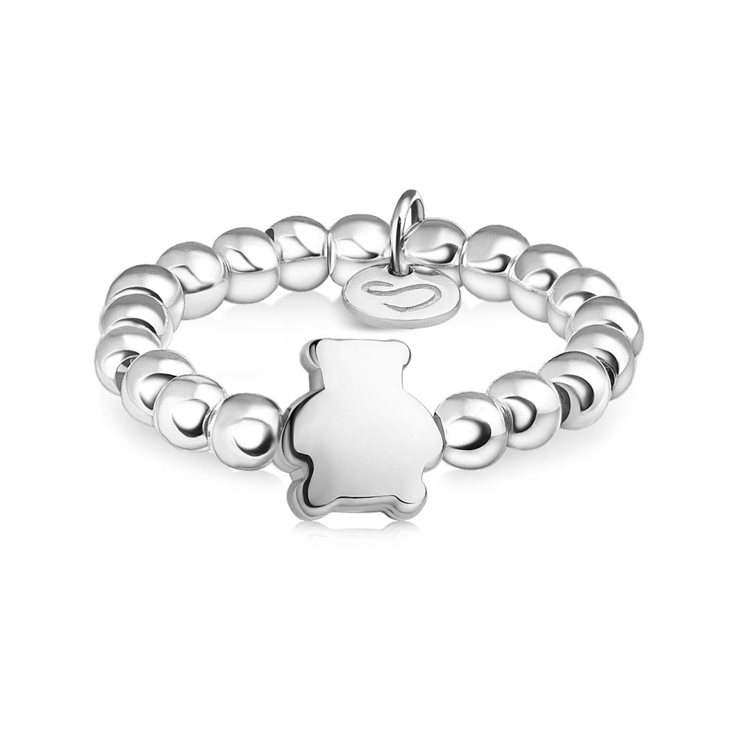 Кольцо из бусин «Медвежонок»