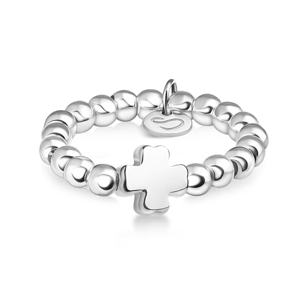 Кольцо из бусин «Клевер»