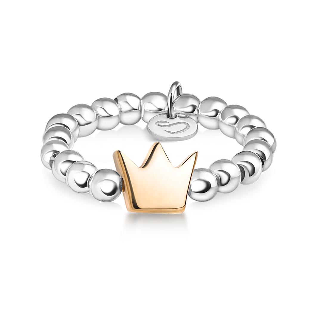 Кольцо из бусин «Корона»