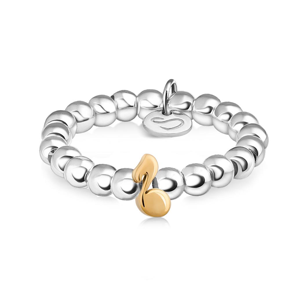 Кольцо из бусин «Нотка»