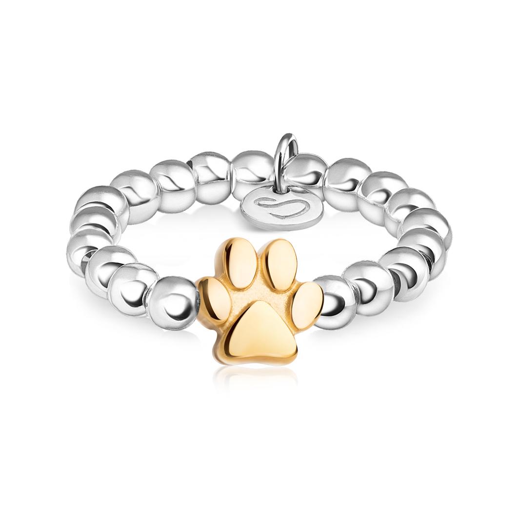 Кольцо из бусин «Лапка»