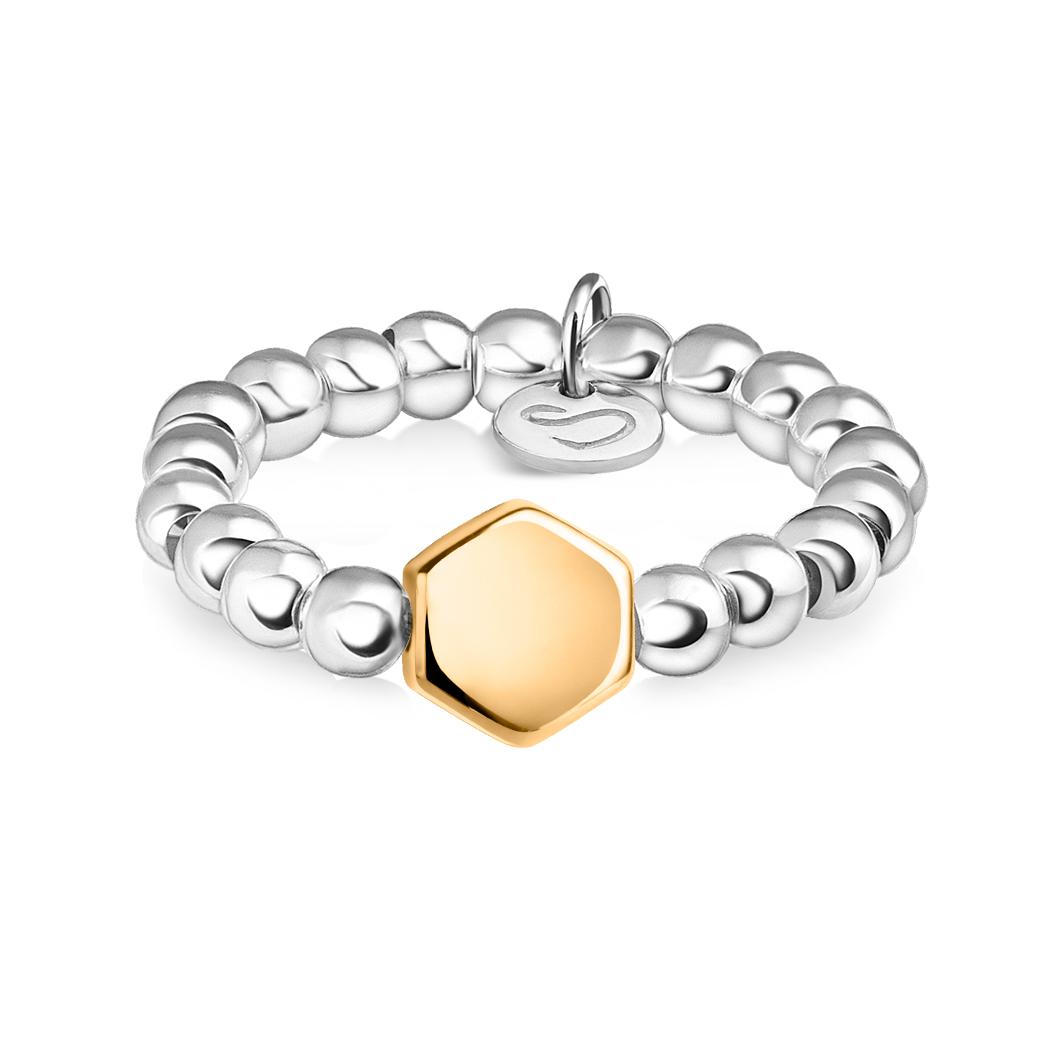 Кольцо из бусин «Сота»
