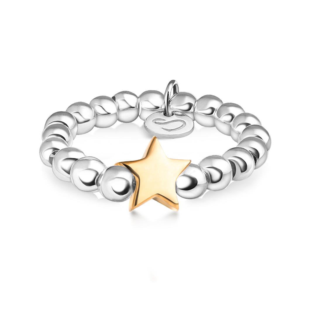 Кольцо из бусин «Звездочка»