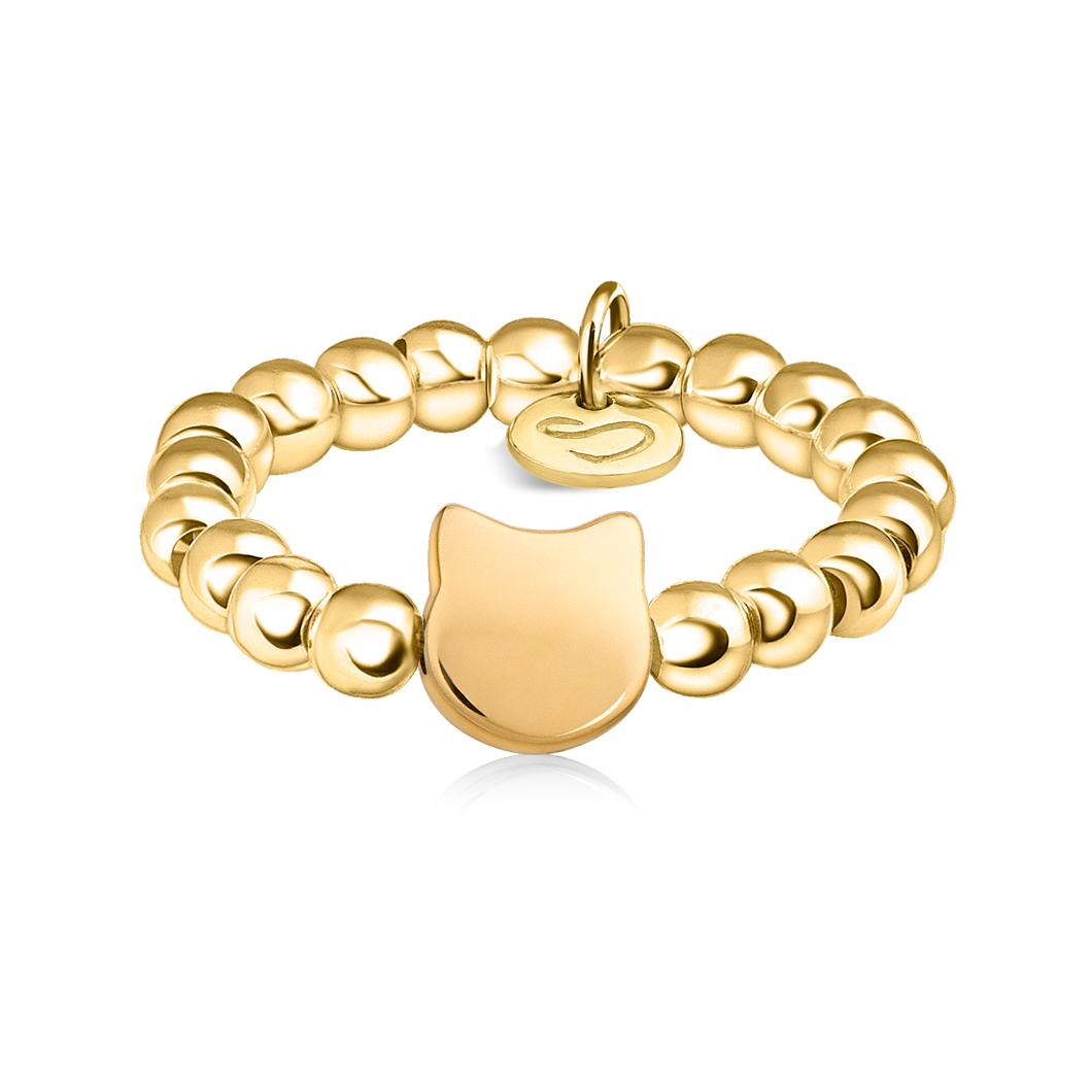 Кольцо из бусин «Котенок»