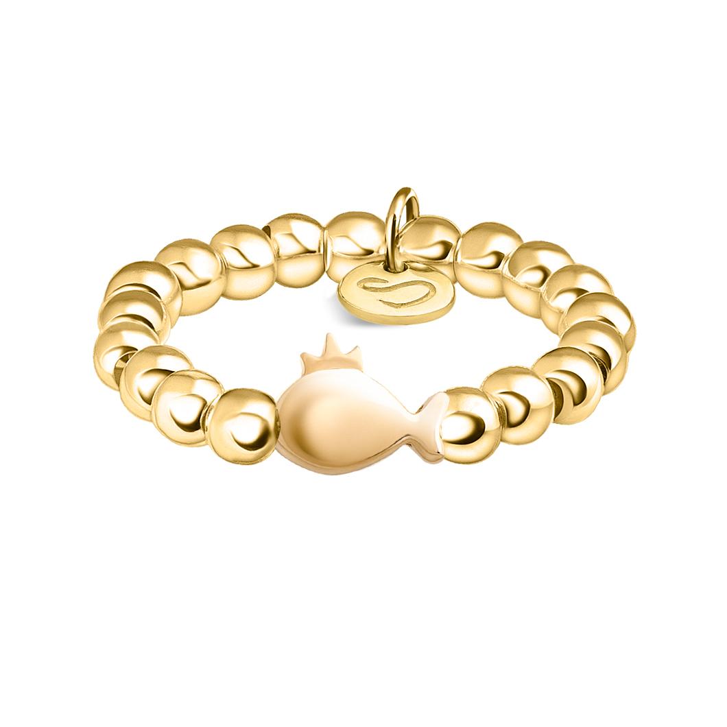 Кольцо из бусин «Рыбка»