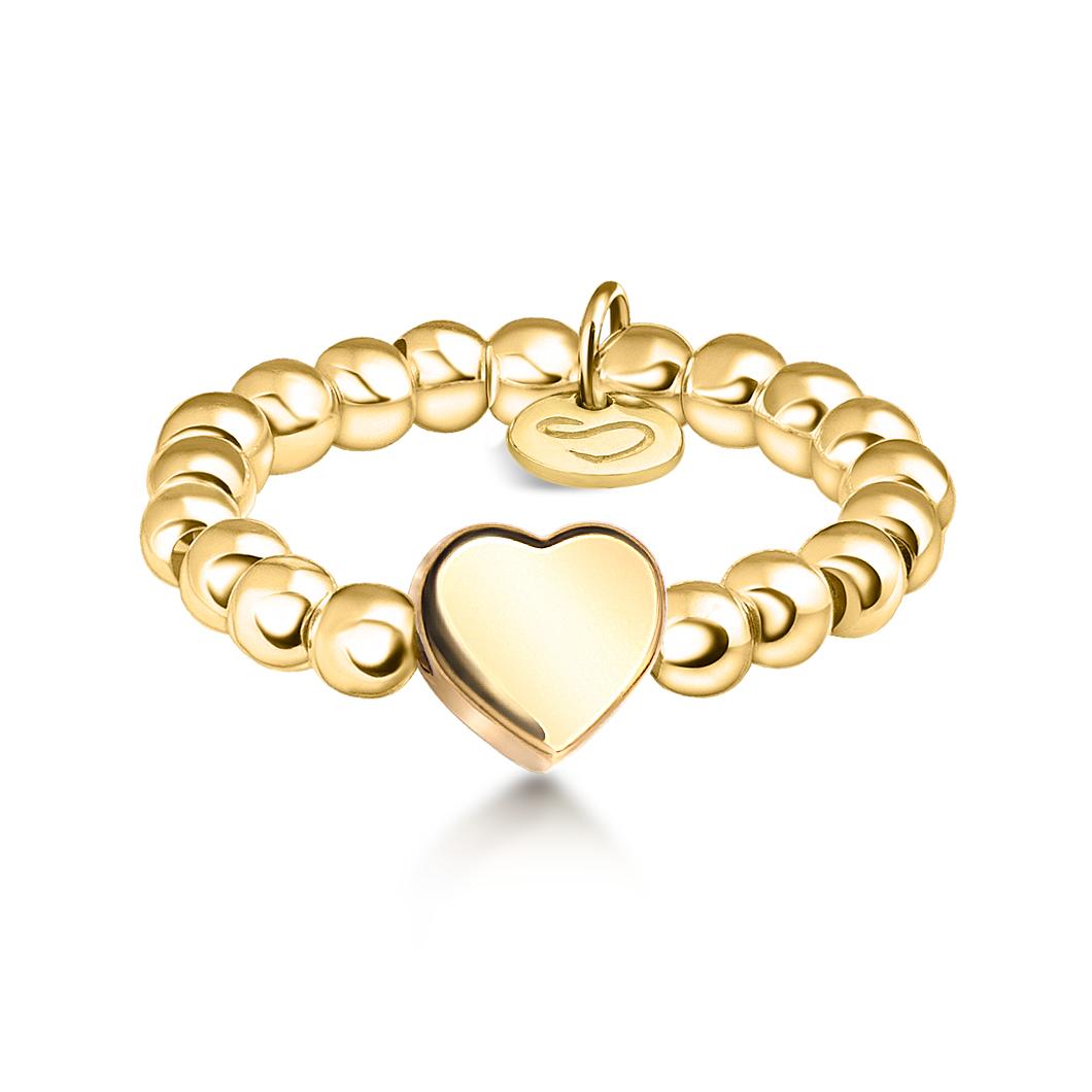 Кольцо из бусин «Сердце»