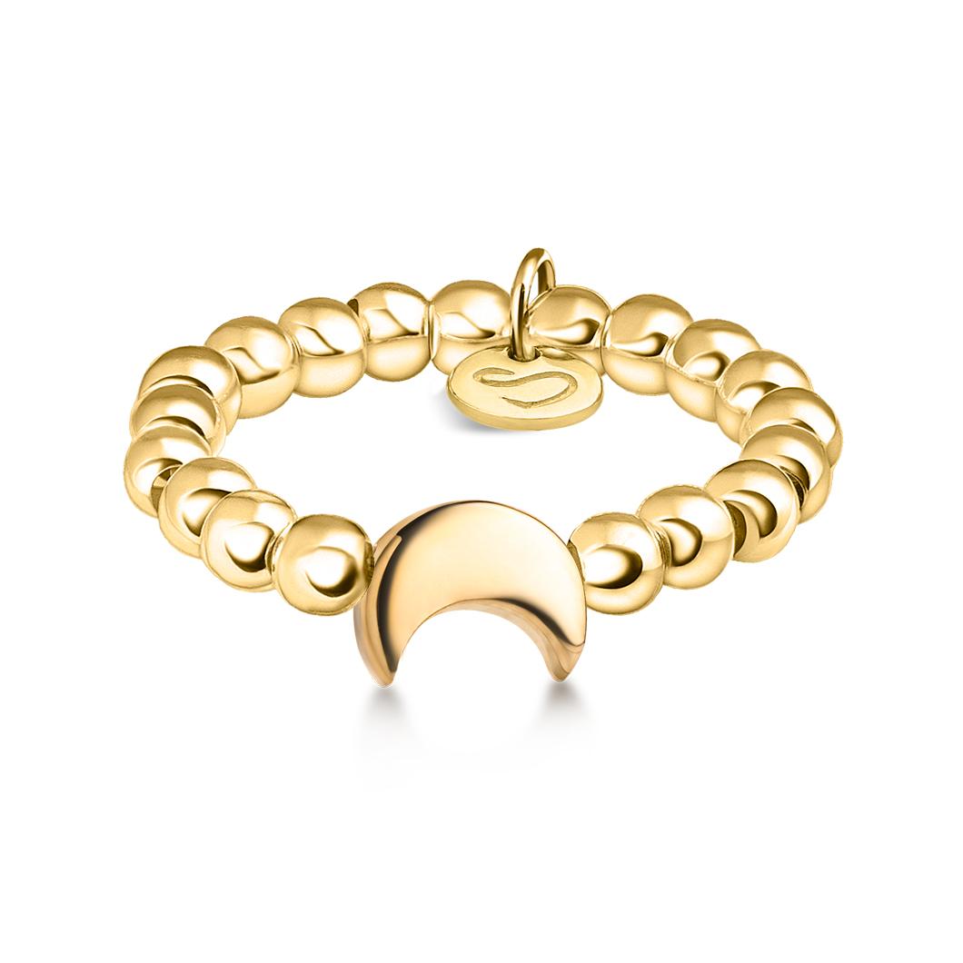 Кольцо из бусин «Месяц»