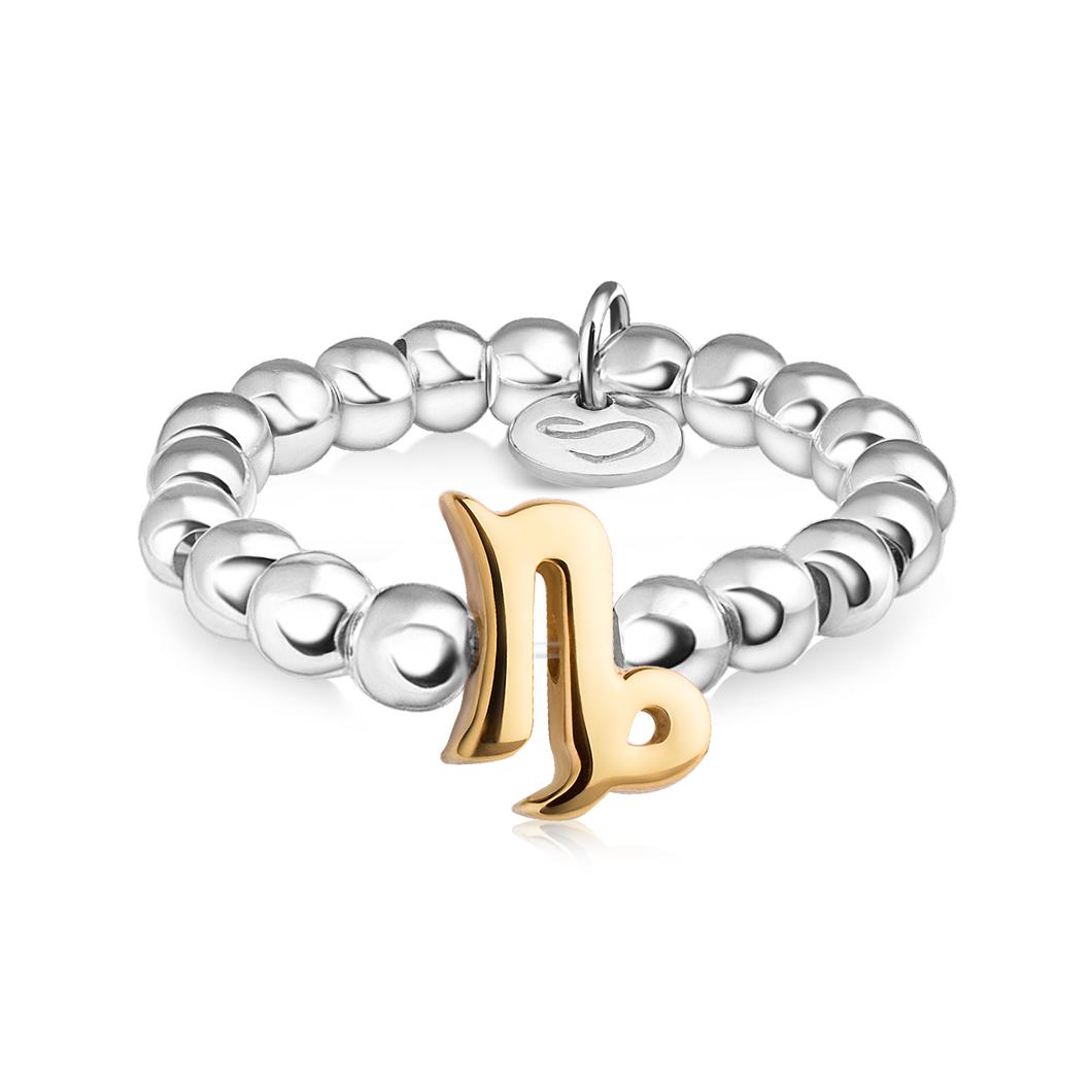 Кольцо из бусин знак зодиака «Козерог»