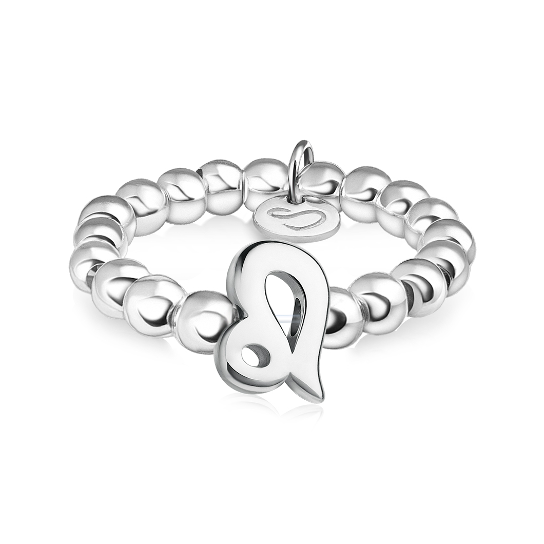Кольцо из бусин знак зодиака «Лев»