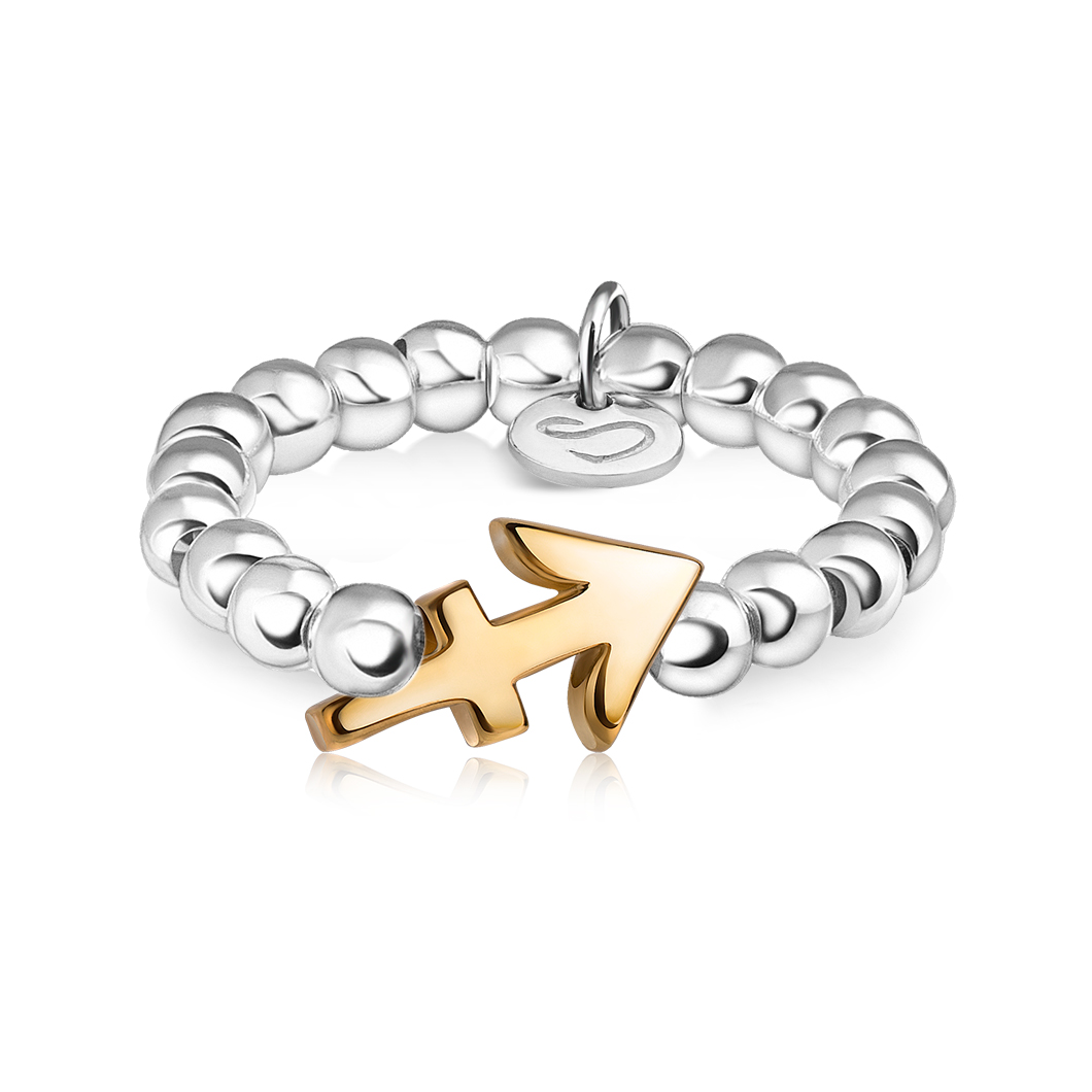 Кольцо из бусин знак зодиака «Стрелец»