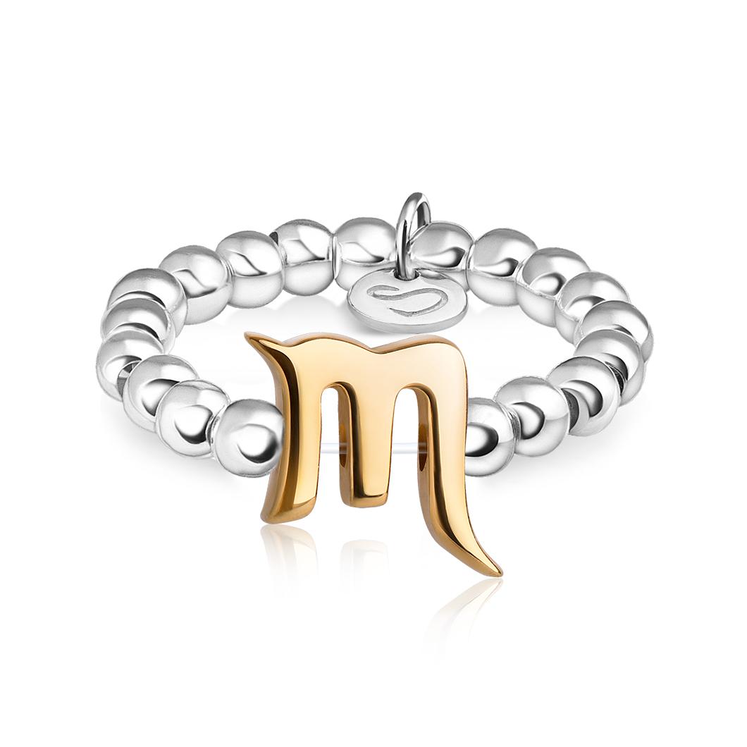 Кольцо из бусин знак зодиака «Скорпион»