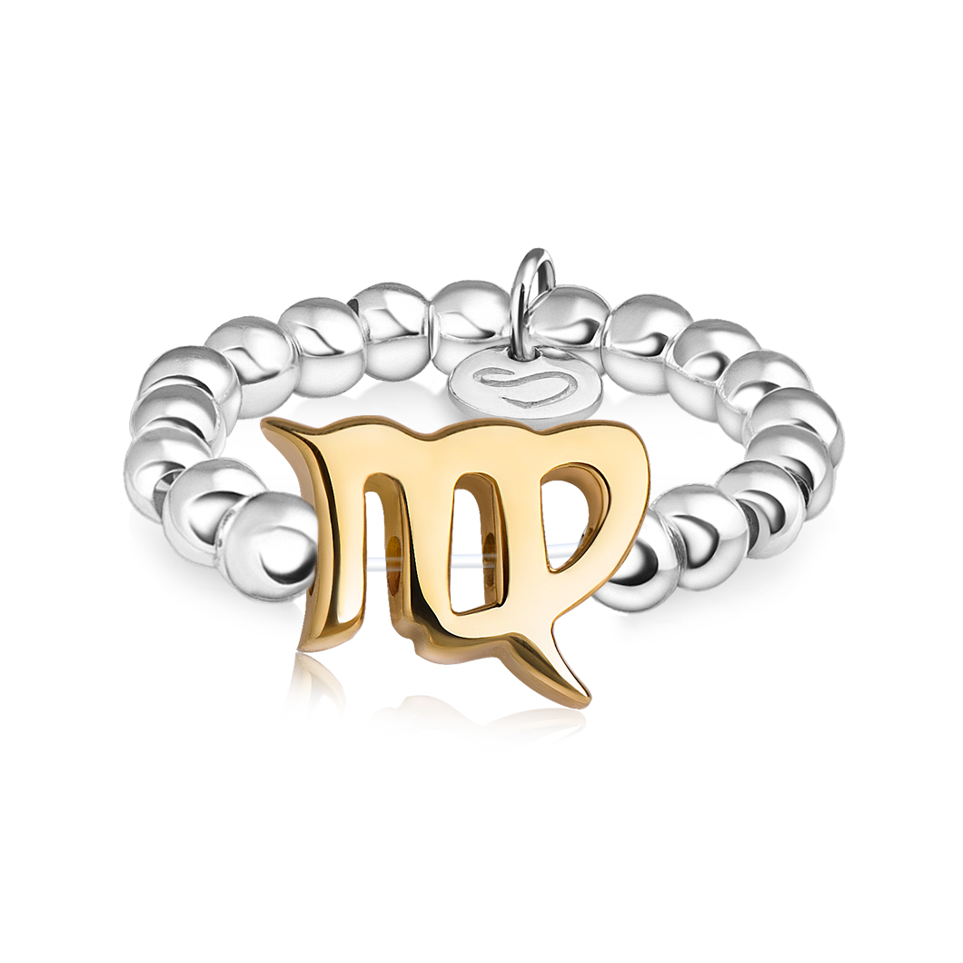 Кольцо из бусин знак зодиака «Дева»
