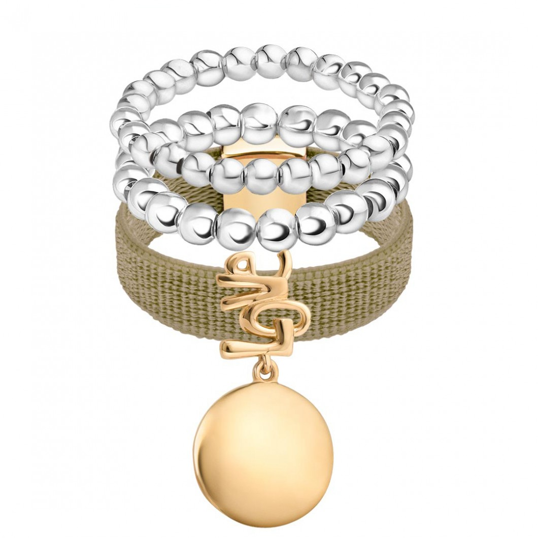 Набор колец на ленте с шармиком на подвесе «Круг любви» и бусины