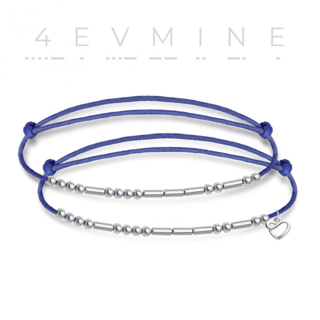 Парные браслеты в виде кода Морзе — «4EVMINE»