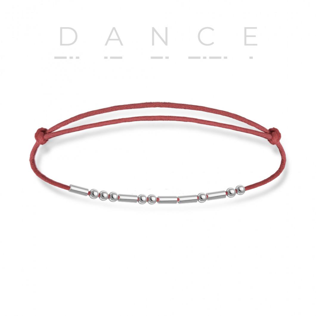 Браслет в виде кода Морзе «DANCE»