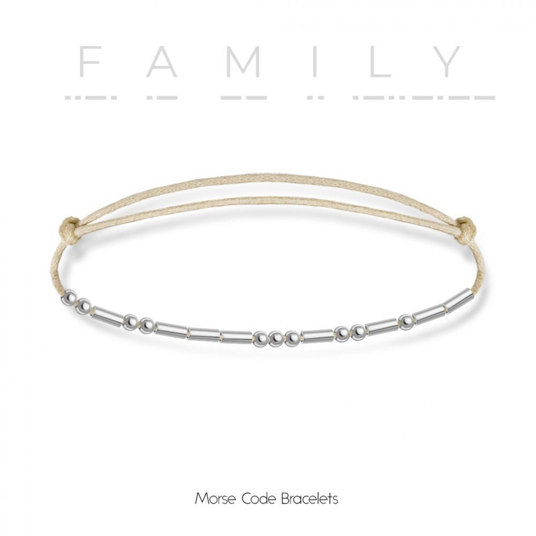 Браслет в виде кода Морзе «FAMILY»