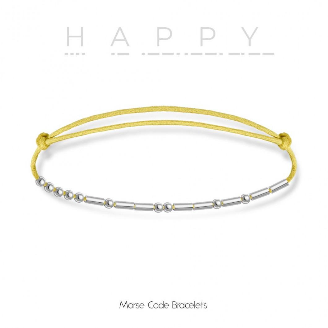 Браслет в виде кода Морзе «HAPPY»