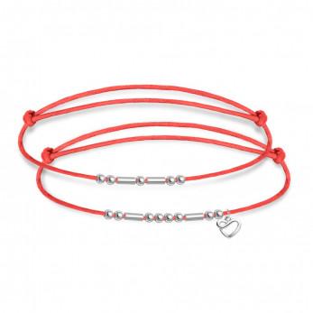 Парные браслеты в виде кода Морзе – «Love&freedom»
