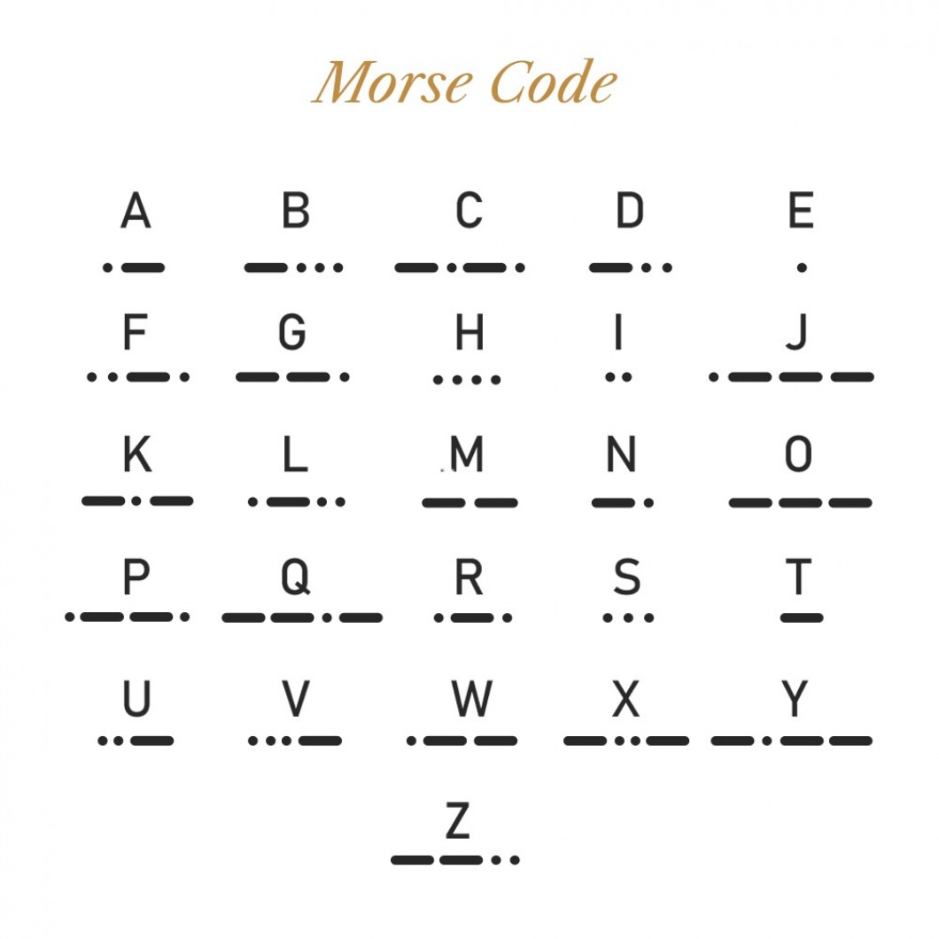 Браслет в виде кода Морзе «FREEDOM»