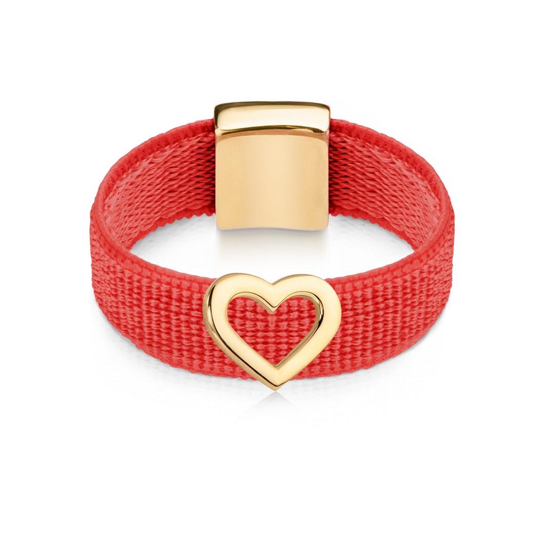 Кольцо «Контурное сердце»