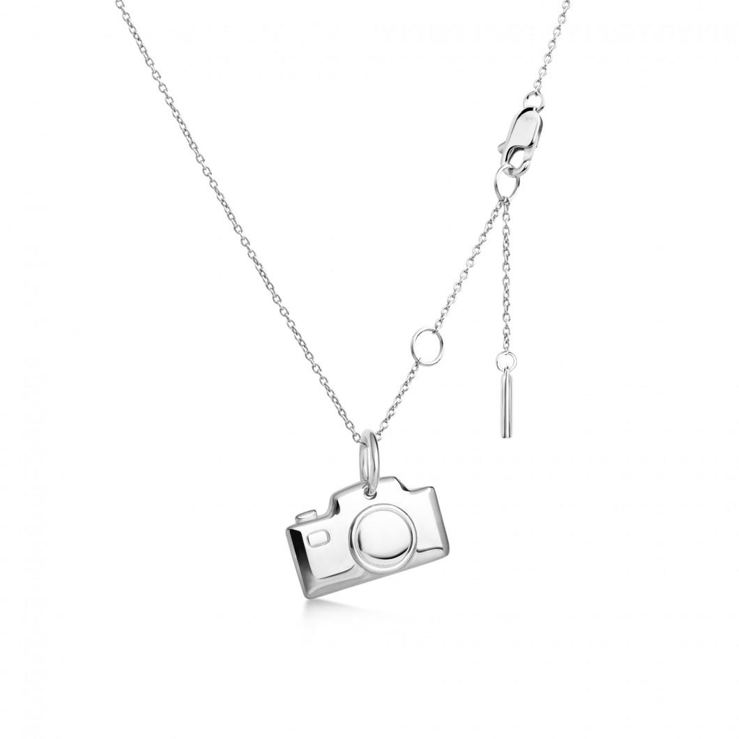 Кулон «Фотокамера» серебро 925