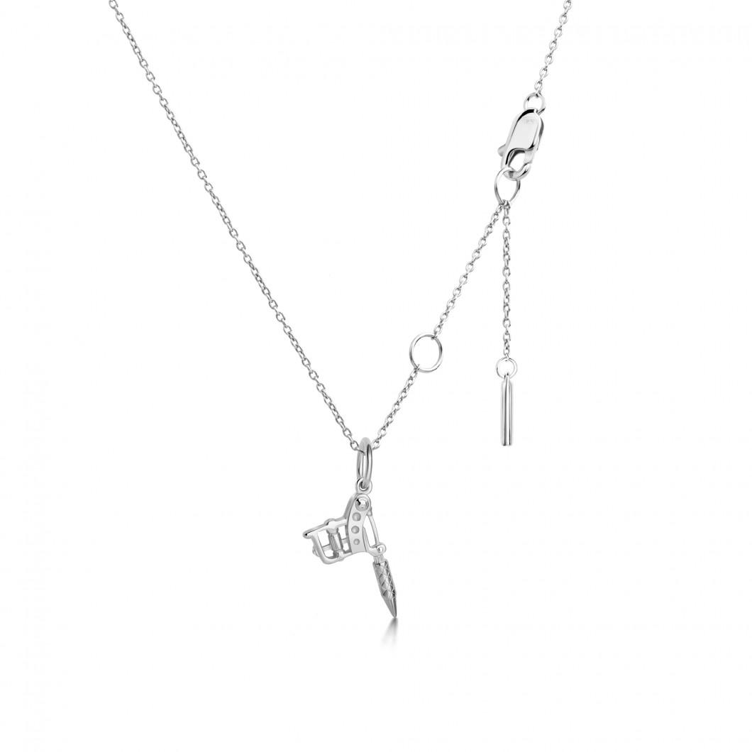 Кулон «Тату машина мини» серебро 925