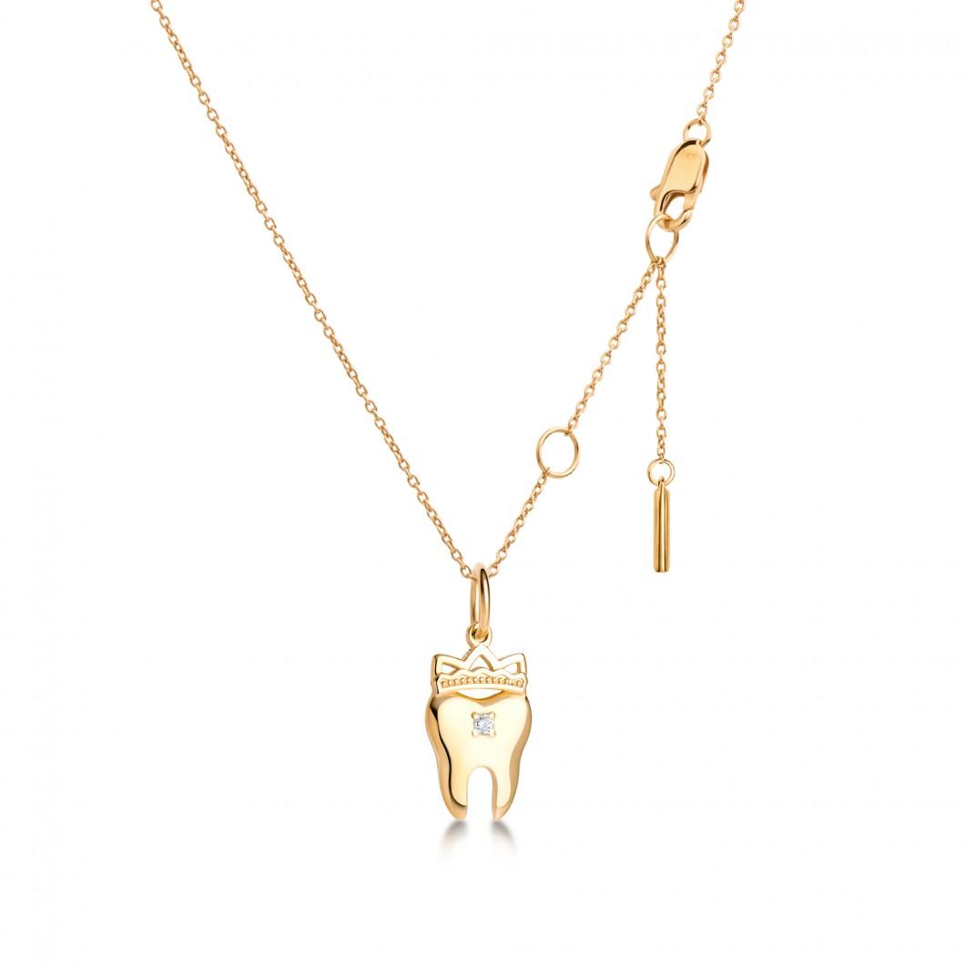 Кулон «Зубчик» серебро 925