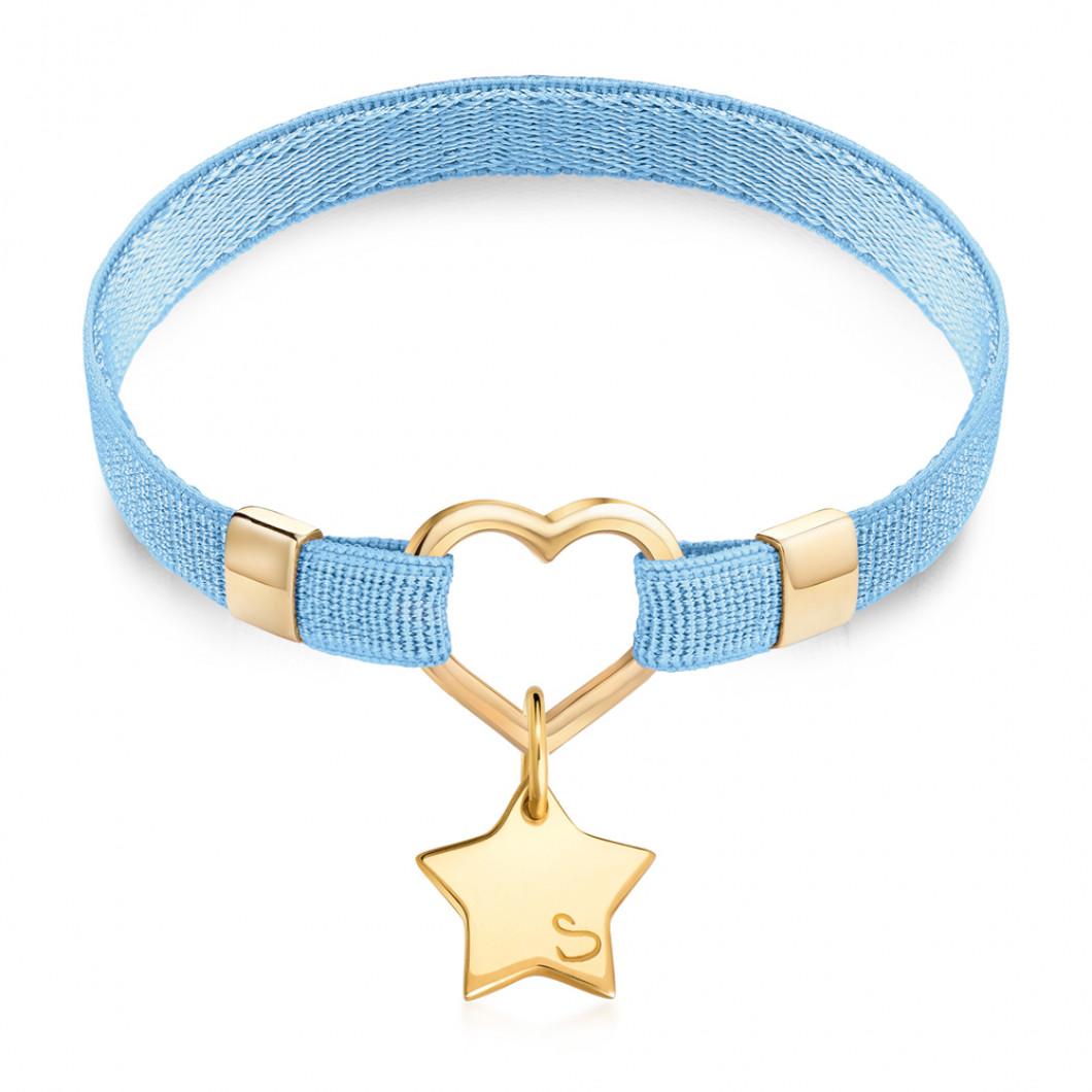 Браслет «Polo Heart» на ленте с подвеской «Звезда мини»
