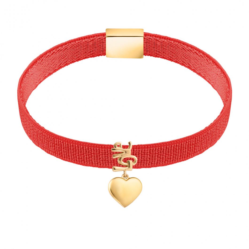 Браслет на ленте с шармиком «Сердце любви»