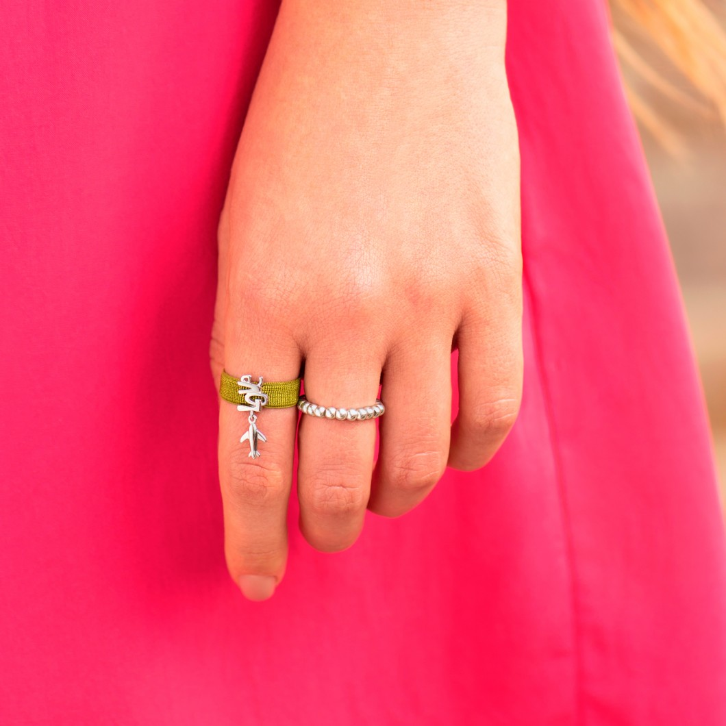 Кольцо «Самолётик любви»