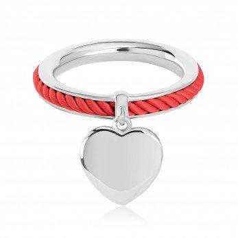 Кольцо «Omega» с шармиком «Сердечко»