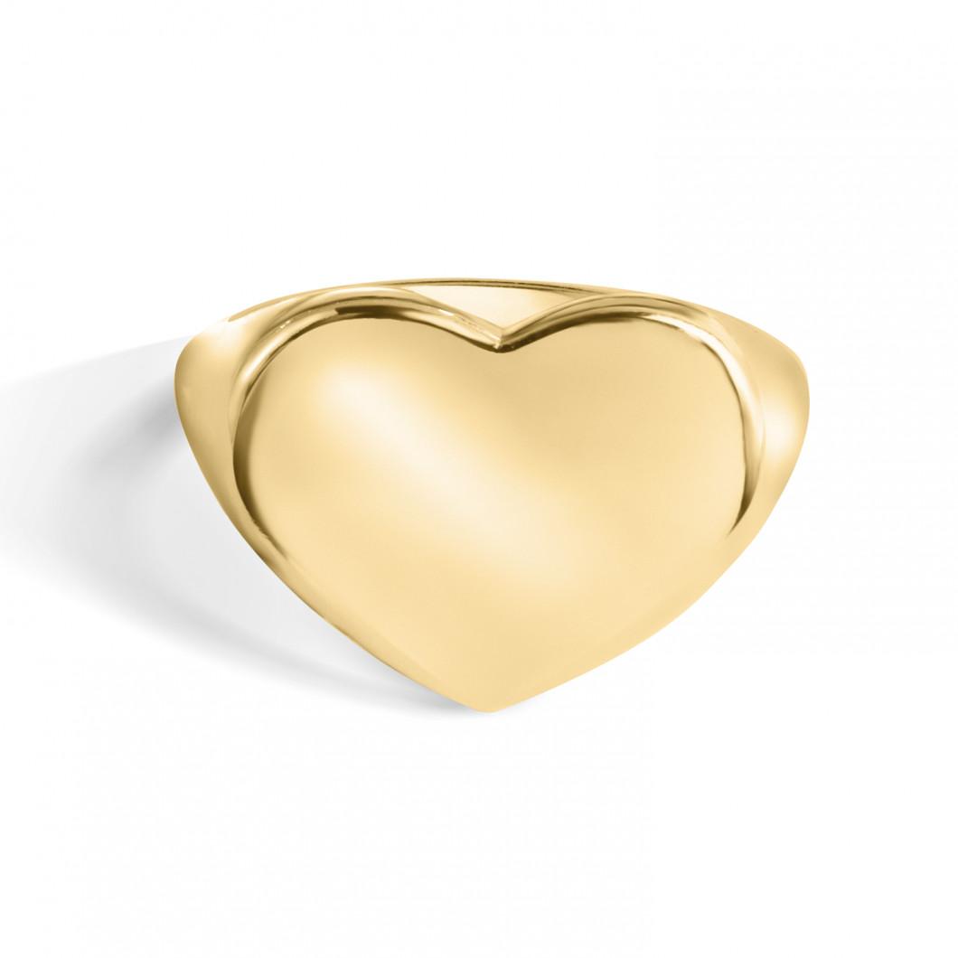 Кольцо под гравировку «Сердце»