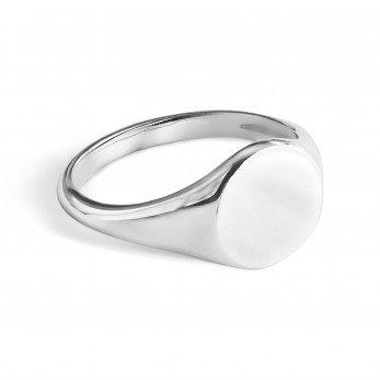 Кольцо под гравировку «Печатка»
