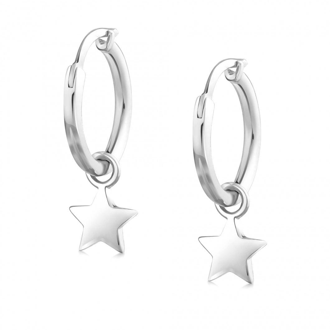 Сережки кольца «Звездочка»