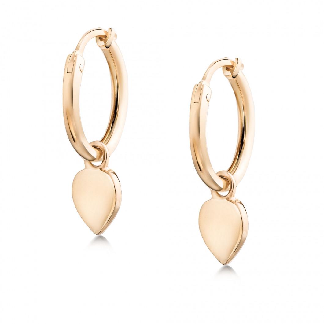 Сережки кольца «Сердце»